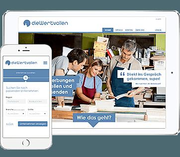 Web-Anwendung für Personalvermittlung